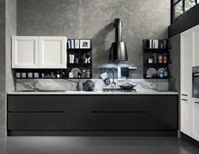 Cucina lineare Cucina industrial frame  white e grigio scuro Nuovi mondi cucine con un ribasso vantaggioso