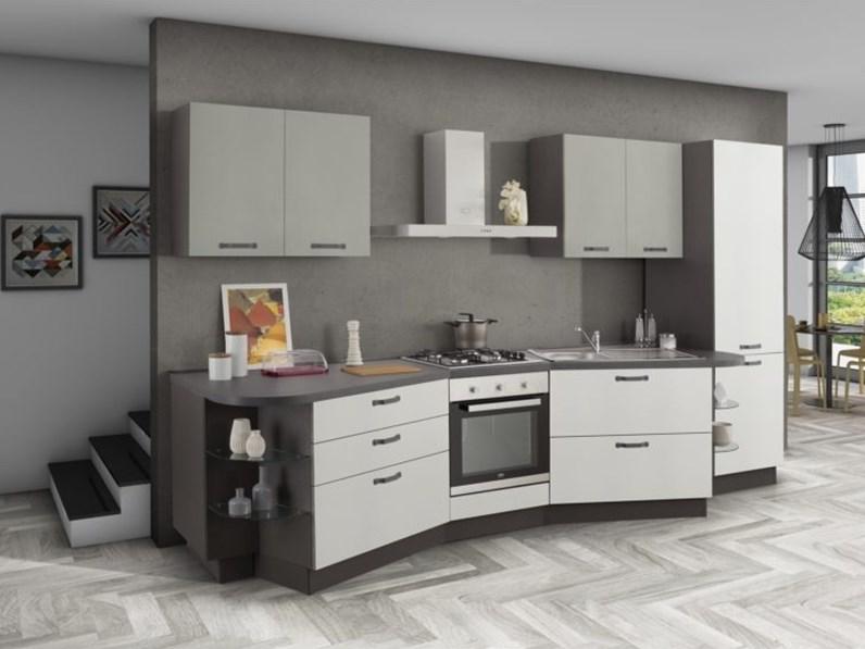 Cucina lineare design asa arredamenti artigianale a prezzo for Di paolo arredamenti outlet