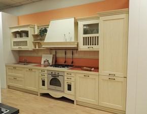 Cucina  lineare Dibiesse  shabby contemporanea avorio offerta Outleta prezzo ribassato