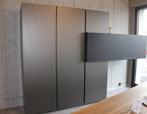 Cucina lineare in acciaio grigio Alumina a prezzo scontato