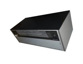 Cucina lineare in acciaio grigio Cappa perfim a prezzo scontato