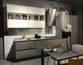 Cucina lineare in kerlite grigio Lineare bijoux a prezzo scontato