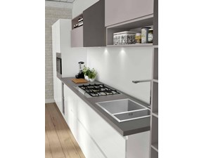 Cucina lineare in laccato lucido a prezzo ribassato 37%