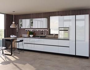 Cucina lineare in laccato lucido altri colori Liberamente  a prezzo scontato