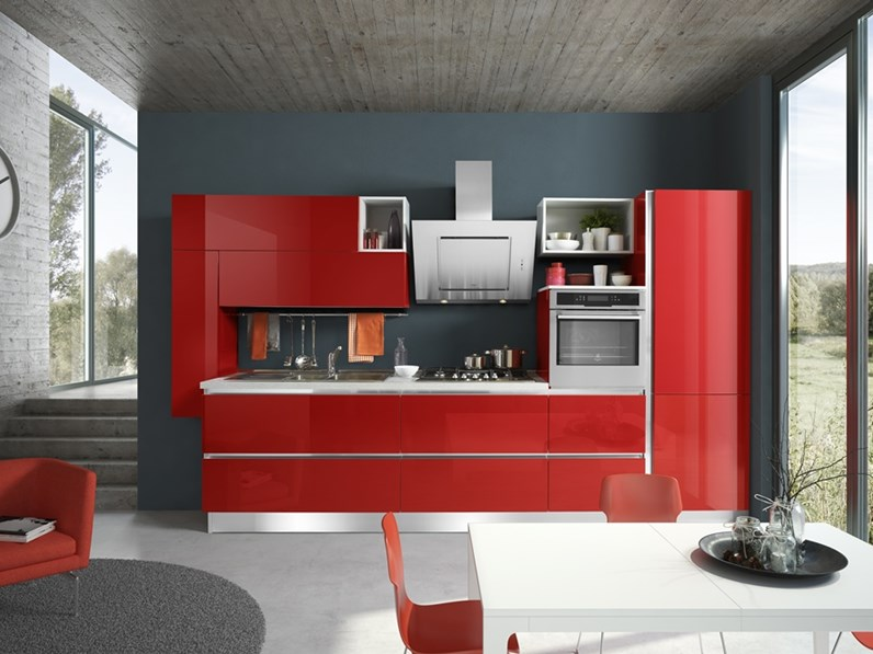 Best Cucina Laccata Rossa Gallery - House Interior ...