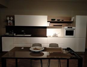 Cucina lineare in laccato opaco bianca Cucina pessina sartoriale a prezzo scontato