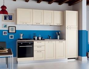 Cucina lineare in laccato opaco bianca Easy colony a prezzo scontato