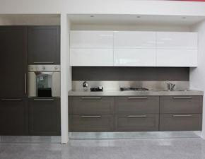 Cucina lineare in laccato opaco grigio U814 crono 7 a prezzo scontato