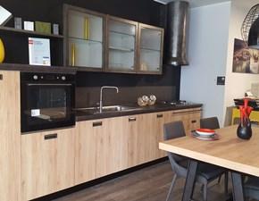 Cucina lineare in laminato materico a prezzo ribassato 40%