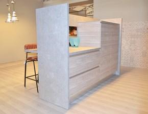 Cucina lineare in laminato materico a prezzo ribassato