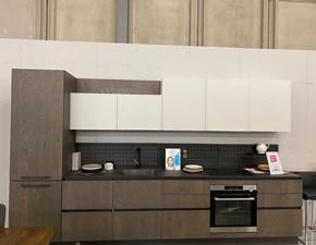 Cucina lineare in laminato materico altri colori Clover a prezzo scontato