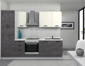 Cucina lineare in laminato materico altri colori Composizione da 270 a prezzo scontato