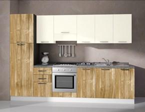 Cucina lineare in laminato materico altri colori Composizione da 300- 6 a prezzo scontato