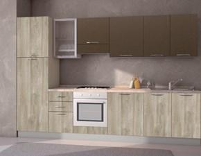 Cucina lineare in laminato materico altri colori Composizione da 315- 2 a prezzo scontato