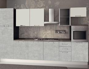 Cucina lineare in laminato materico altri colori Composizione da 345- 2 a prezzo ribassato