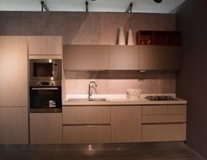 Cucina lineare in laminato materico altri colori Cucina  a prezzo scontato