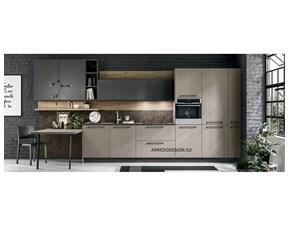 Cucina lineare in laminato materico altri colori Pt04 * a prezzo ribassato