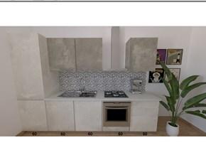 Cucina lineare in laminato materico altri colori Sp22 a prezzo ribassato