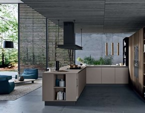 Cucina lineare in laminato materico altri colori Zen a prezzo scontato