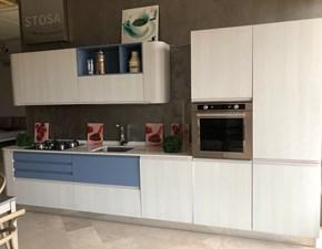 Cucina lineare in laminato materico bianca Bring  a prezzo scontato