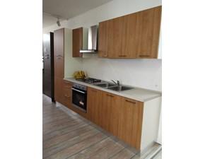 Cucina lineare in laminato materico ciliegio Stylo ciliegio chiaro a prezzo ribassato