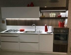 Cucina lineare in laminato materico grigio Feel a prezzo scontato