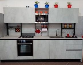 Cucina lineare in laminato materico grigio Play l ab gola a prezzo ribassato