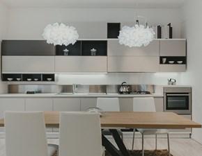 Cucina lineare in laminato materico magnolia Foodshelf a prezzo scontato