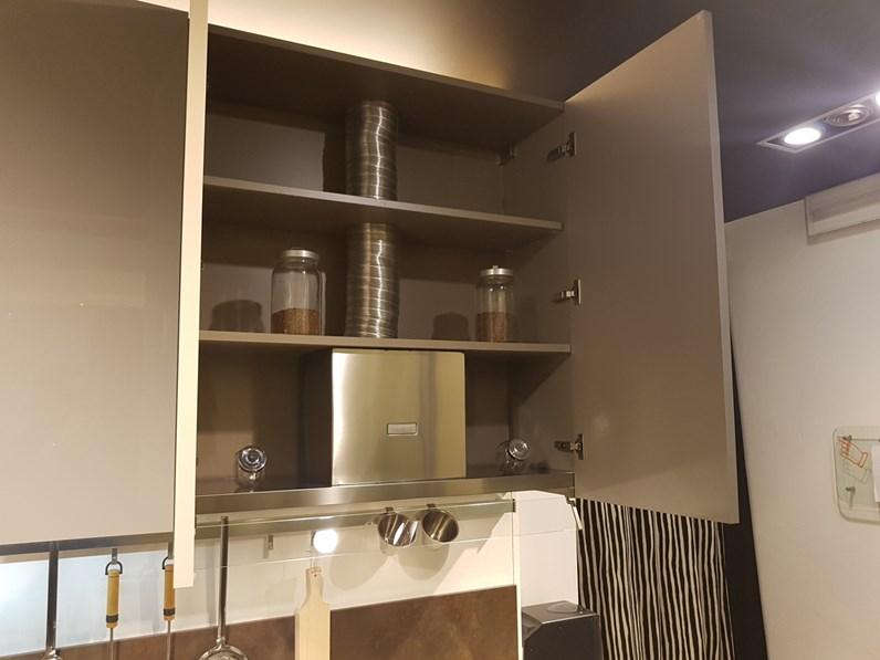 Cucina lineare in laminato materico tortora kali 39 a prezzo for Arredo3 kali prezzo