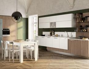 Cucina lineare in laminato opaco bianca Componibile a prezzo scontato