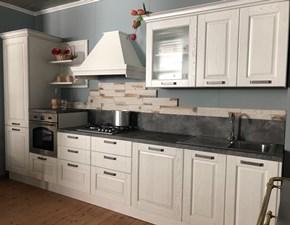 Cucina lineare in laminato opaco bianca Opera a prezzo ribassato