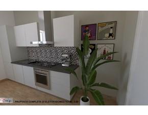 Cucina lineare in laminato opaco bianca Sp22 a prezzo ribassato
