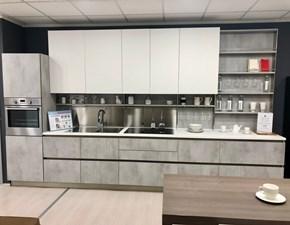 Cucina lineare in laminato opaco grigio Oyster pro dekorativo a prezzo ribassato