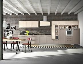 Cucina lineare in legno a prezzo ribassato 30%