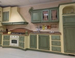 Cucina lineare in legno a prezzo ribassato 49%