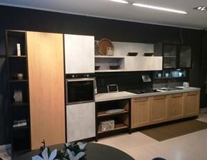 Cucina lineare in legno a prezzo ribassato 50%