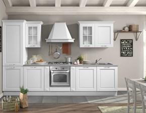 Cucina lineare in legno a prezzo scontato 35%