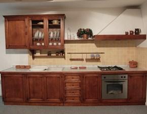 Cucina lineare in legno a prezzo scontato 40%