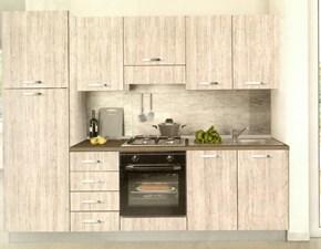 Cucina lineare in legno a prezzo scontato 10%