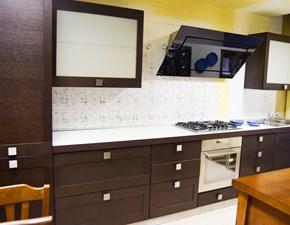 Cucina lineare in legno a prezzo scontato 70%