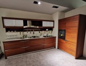 Cucina lineare in legno a prezzo scontato