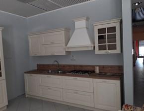 Cucina lineare in legno altri colori Bolgheri a prezzo ribassato