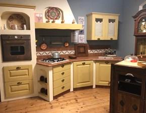 Cucina lineare in legno altri colori Casale a prezzo scontato