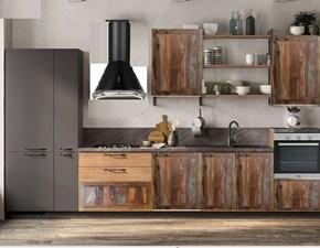 Cucina lineare in legno altri colori Cucina recicle industrial  a prezzo ribassato