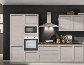 Cucina lineare in legno altri colori Elsa a prezzo ribassato