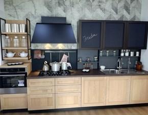Cucina lineare in legno altri colori Frida modern a prezzo scontato