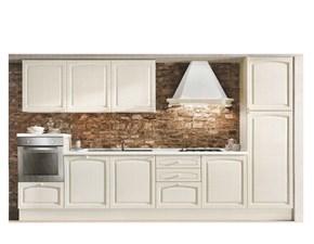 Cucina lineare in legno altri colori Mida a prezzo ribassato