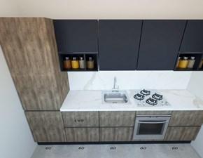 Cucina lineare in legno altri colori Sp22 a prezzo scontato