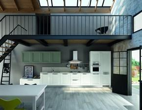 Cucina lineare in legno bianca Bianca a prezzo ribassato