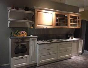 Cucina lineare in legno bianca Bolgheri  a prezzo ribassato
